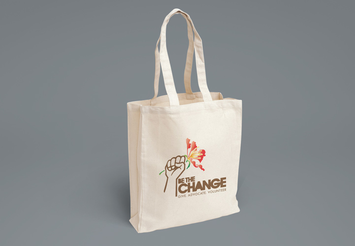 Be The Change Foundation St Maarten Eco Friendly Shopping Bag